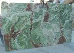 Dark Green Onyx slabs