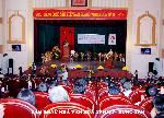 Thiết kế trang trí sân khấu lớn nhà văn hóa Yên Mỹ
